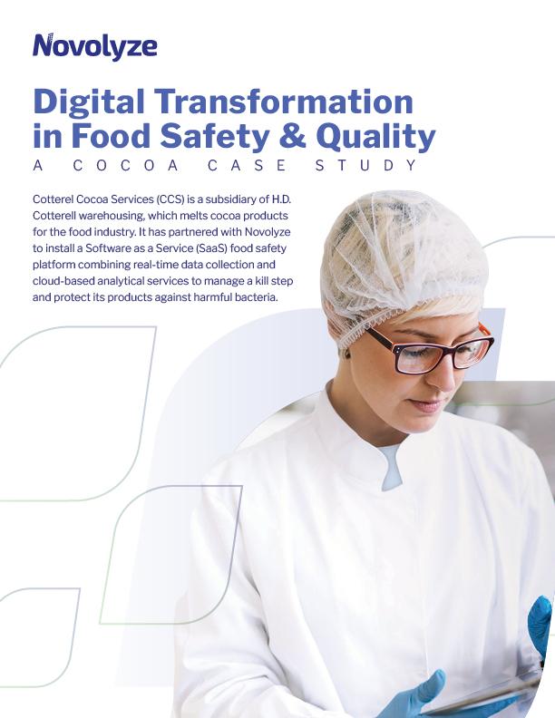 Digital transformation of food safety